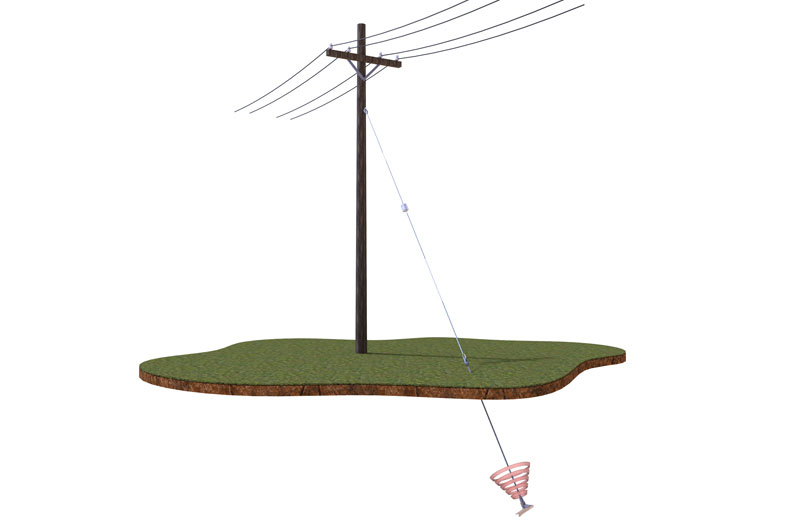 Utility Pole Earth Anchor